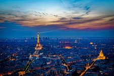 Free Sunset Eiffel Tower Royalty Free Stock Photos - 97537538