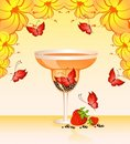 Free Butterfly In A Glass Stock Images - 9763024