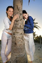 Free Two Girls On The Beach Stock Photos - 9763123