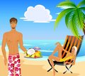Free Woman And Man On A Beach Royalty Free Stock Photography - 9764157