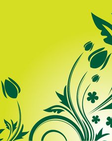 Free Green Floral Background Royalty Free Stock Photo - 9760335