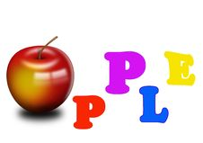 Free Apple With Letters Stock Images - 9761184