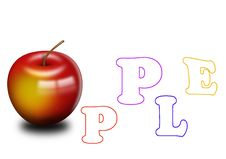 Free Apple With Letters Royalty Free Stock Photo - 9761205