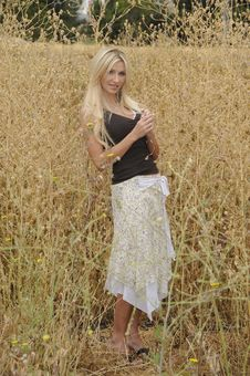 Free Lady In The Field Stock Photos - 9761933