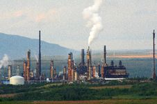 Oil Refinery Royalty Free Stock Photography