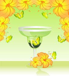 Butterfly In A Glass Stock Photography