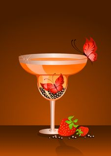 Butterfly In A Glass Stock Photos