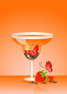 Butterfly In A Glass Royalty Free Stock Photo