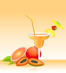 Free Fruits Bright Cocktail Royalty Free Stock Image - 9763096