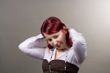 Free Red Haired Girl Royalty Free Stock Image - 9763176