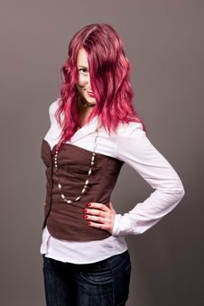 Free Red Haired Passion Girl Stock Photography - 9763232