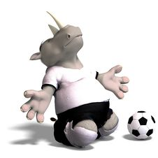 Free Rhino Plays Soccer / Football Royalty Free Stock Image - 9763416