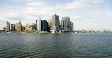 Lower Manhattan And East River Stock Photo
