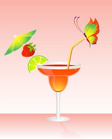 Free Fruits Bright Cocktail Royalty Free Stock Image - 9764156