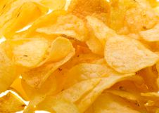 Free Close-up Potato Chips Background Stock Photography - 9764362