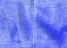 Free Natural Blue Leather Texture Background Royalty Free Stock Photos - 9764598