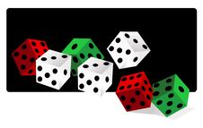 Free Dice Vector Illustration Stock Photos - 9765193