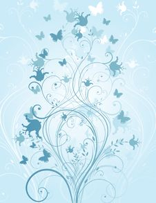 Free Winter Floral Background Stock Images - 9765204
