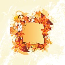 Free Autumn Floral Frame Stock Photography - 9765232