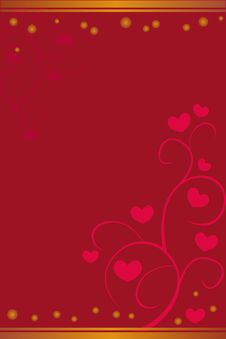 Free Floral Valentine Background Royalty Free Stock Photography - 9765657