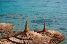 Free Beach Umbrellas Royalty Free Stock Photos - 9766318