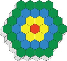 Hexagonal 3d Pattern Stock Image