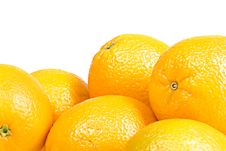 Oranges Isolated On White Royalty Free Stock Photos