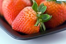 Strawberries Closup Stock Photos