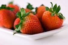 Free Strawberries Close Up Royalty Free Stock Images - 9767289