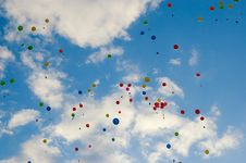 Free Colorful Balloons Royalty Free Stock Photo - 9767665