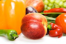 Free Fruits & Vegetables Royalty Free Stock Photography - 9767827