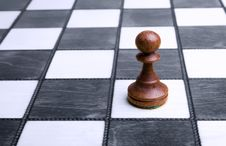 Free Pawn On Chessboard Stock Images - 9768004