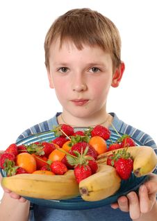 Fruit Boy Stock Photos