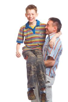 Free Father And Son Royalty Free Stock Photos - 9768408
