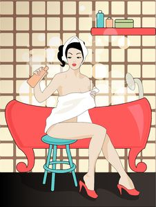 Free Vintage Girl Royalty Free Stock Image - 9769296