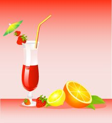 Free Fruits Cocktail Royalty Free Stock Image - 9769436