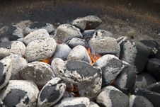 Glowing Coals. Royalty Free Stock Photography
