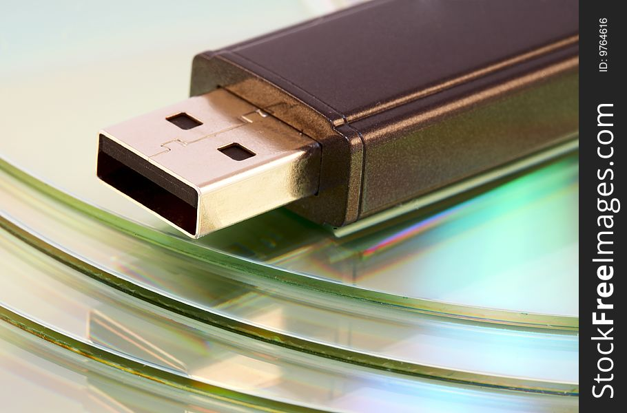 Usb flash memory close-up shot