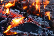 Free Fire, Campfire, Geological Phenomenon, Charcoal Royalty Free Stock Photography - 97610677