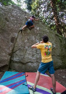 Free Bouldering-24 Royalty Free Stock Images - 97650319