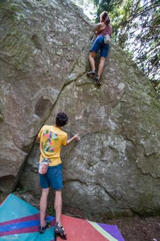 Free Bouldering-12 Stock Photos - 97650883