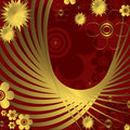 Free Floral Red And Golden  Background Royalty Free Stock Images - 9776899