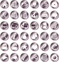 Free Round Iron Buttons Stock Image - 9777691