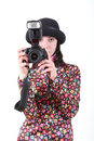 Free The Girl With The Camera Royalty Free Stock Photos - 9778818