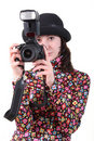 Free The Girl With The Camera Stock Photo - 9778840
