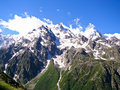 Free Snowy Peaks Of Mountains In Summer Royalty Free Stock Photos - 9779738