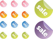 Free Sale Tags Royalty Free Stock Photography - 9770287