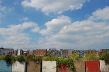 Free Colorfull Homes With A Blue Sky In Zeeburg Holland Royalty Free Stock Photos - 9770618