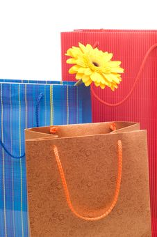 Free Three Paper Bags Royalty Free Stock Images - 9770669