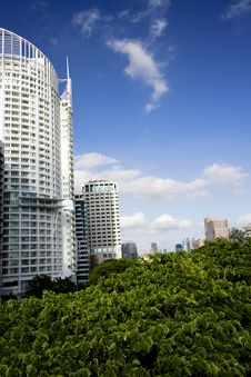 Free Bangkok Cityscape Royalty Free Stock Photos - 9770738